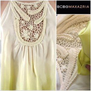Bcbg MaxAzria Silk Halter Tank Top
